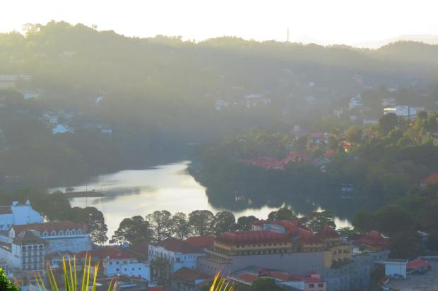 view of Kandy from ahigh