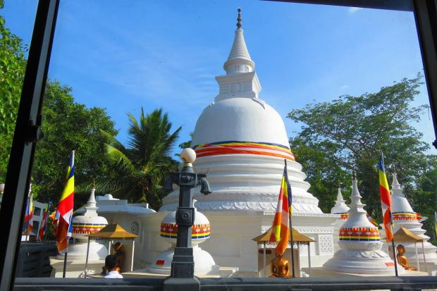 well maintained stupa