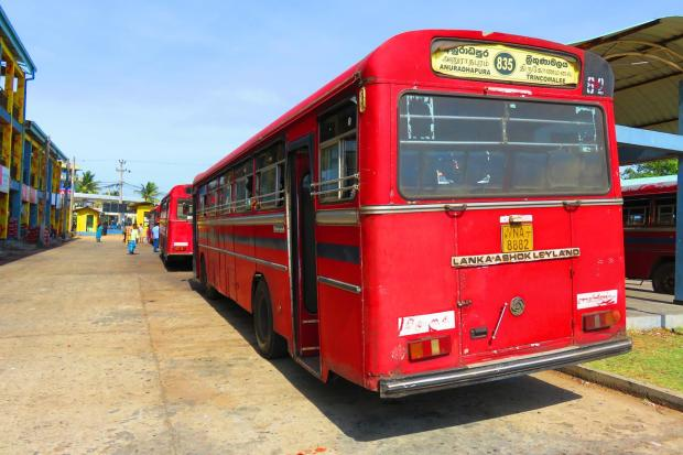 the bus to Anuradhapura