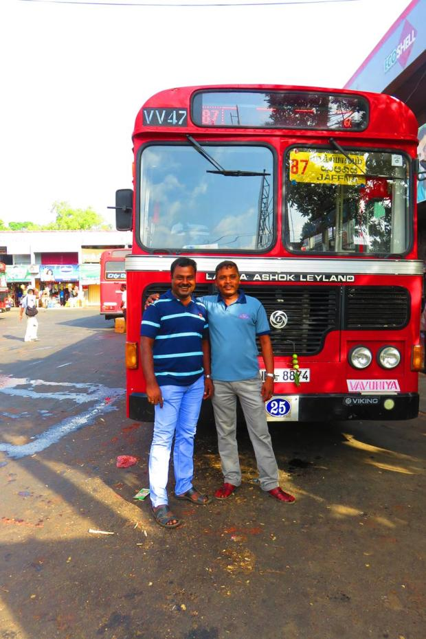 the bus to Jaffna