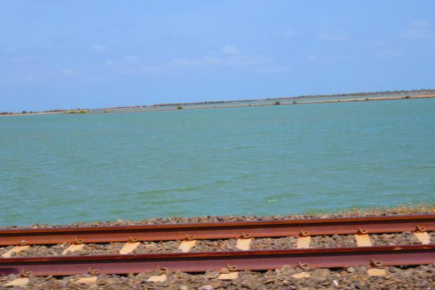 Jaffna is on a peninsula