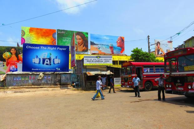 at the Jaffna bus station