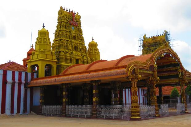 nearby Hindu temple