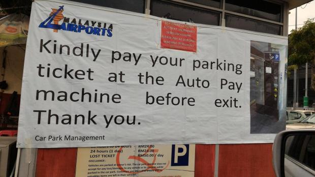 sign in carpark