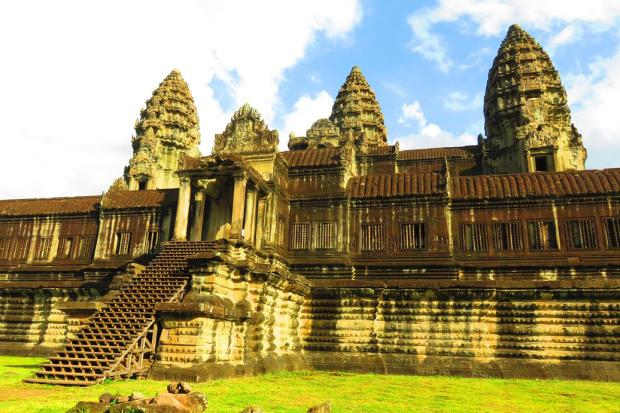 a temple scene