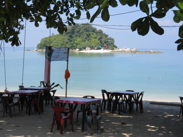 cafe on Coral Bay beach