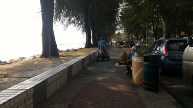 to many people ride their motorbikes along the footpath