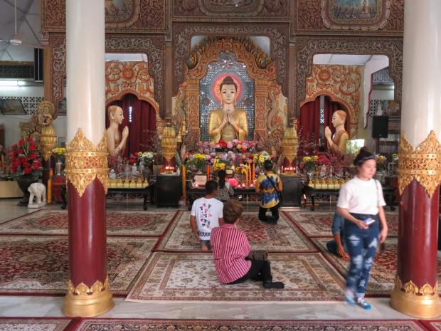 back in Burmese temple