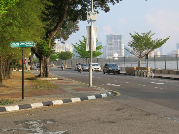 Turn from Gurney Drive into Jalan Concordia