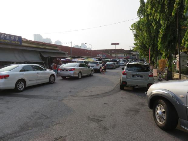 on the left is Pulau Tikus Market