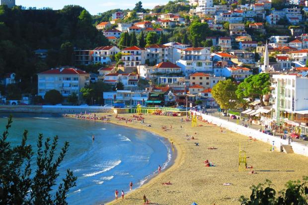 one of the beaches I swam at - Ulcinj, Montenegro