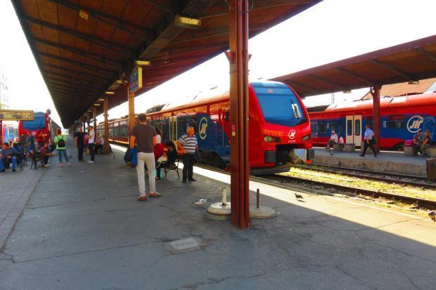 Belgrade Station platforms