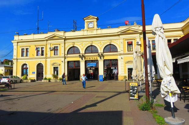 Belgrade Station from the front
