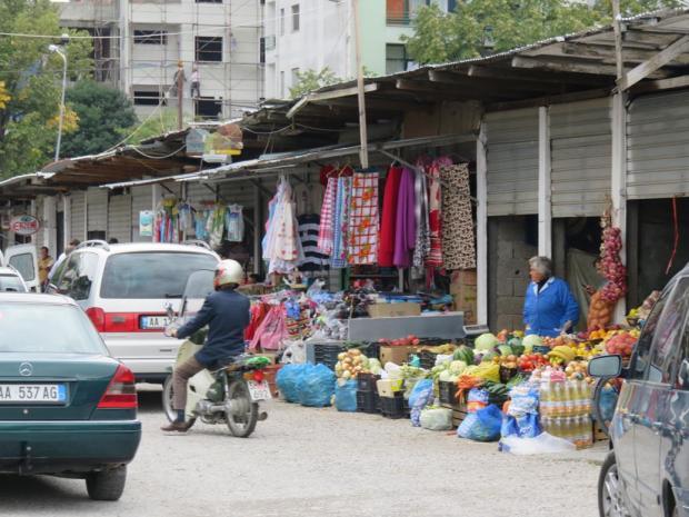 market in Shkoder