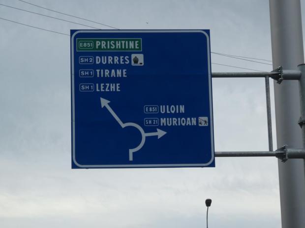 on the way to the capital, Tirana
