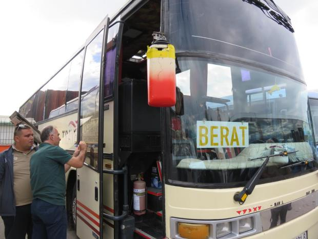the bus from Tirana to Berat