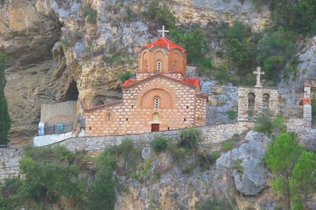 hillside church in Berat