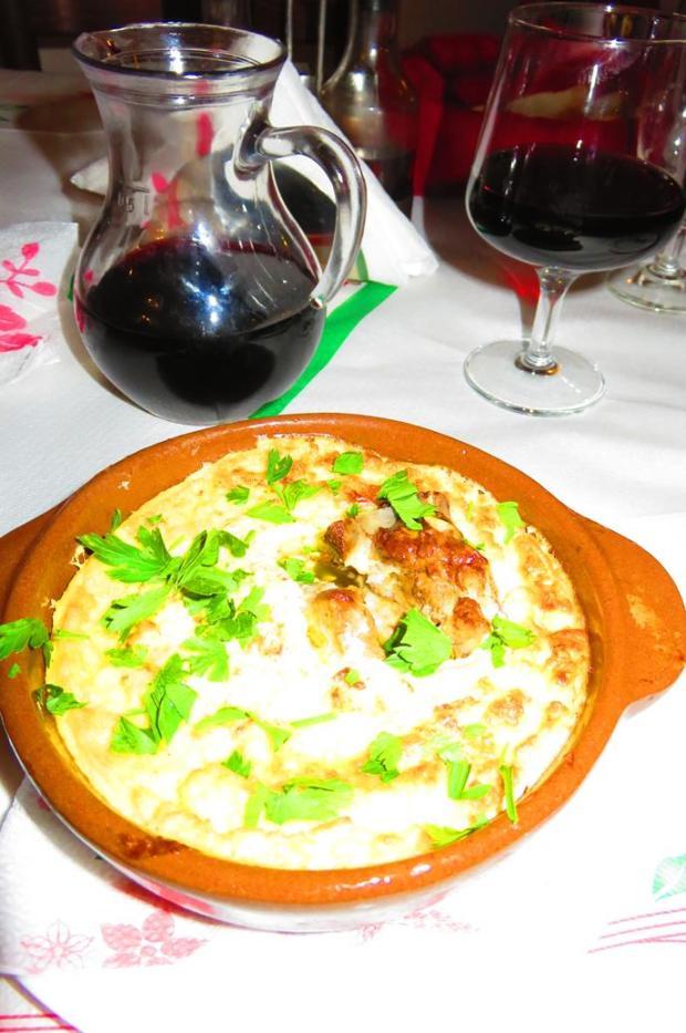 my first dinner in Berat
