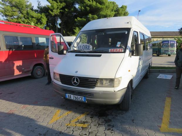 minibus from Berat to Vlore