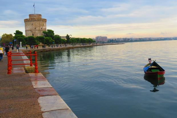 harbour at Thessaloniki