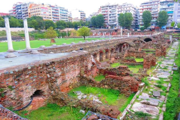 ruins discovered in the centre of town