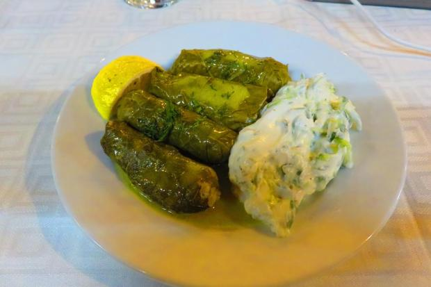 dolmades - vine leaves