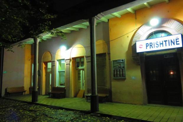 the train arrived in Pristina aound 9pm