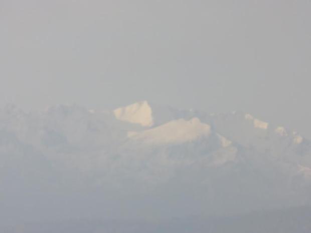 snow on the mountains