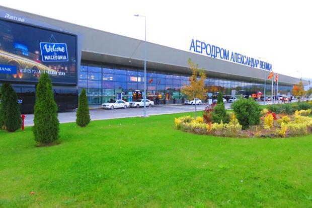 Skopje Airport - leaving the Balkans