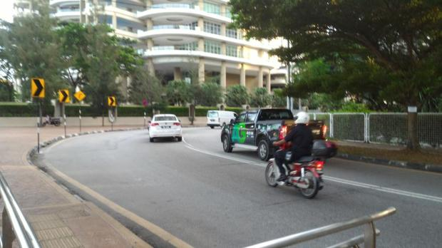 parking cop on motorbike