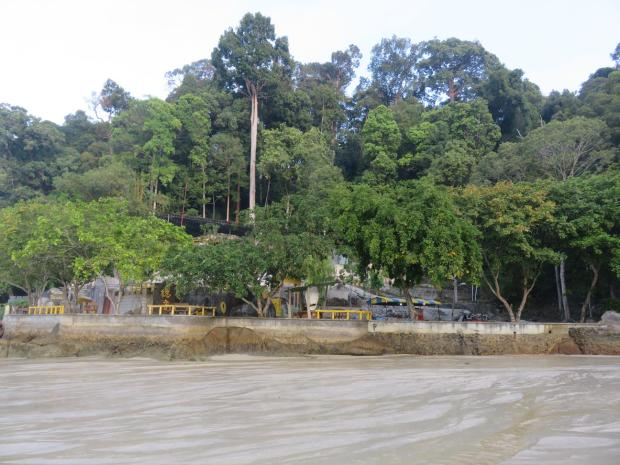 Chinese Temple at the end of Coral Beach