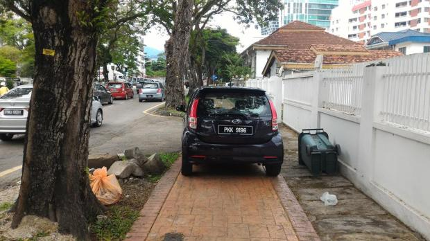 inconsiderate parking